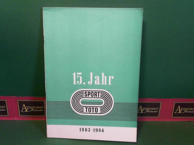 Schüssel, Ludwig: 15.Sporttotojahr - Totojahr 1963/64 in Ziffern und Zahlen. (= Bericht der österreichischen Staatslotterien). 1.Auflage,