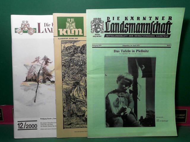 KLM - Die Kärntner Landsmannschaft. Heimatkundliches Organ und Mitteilungsblatt der Heimatverbände Kärntens. 1.Auflage,