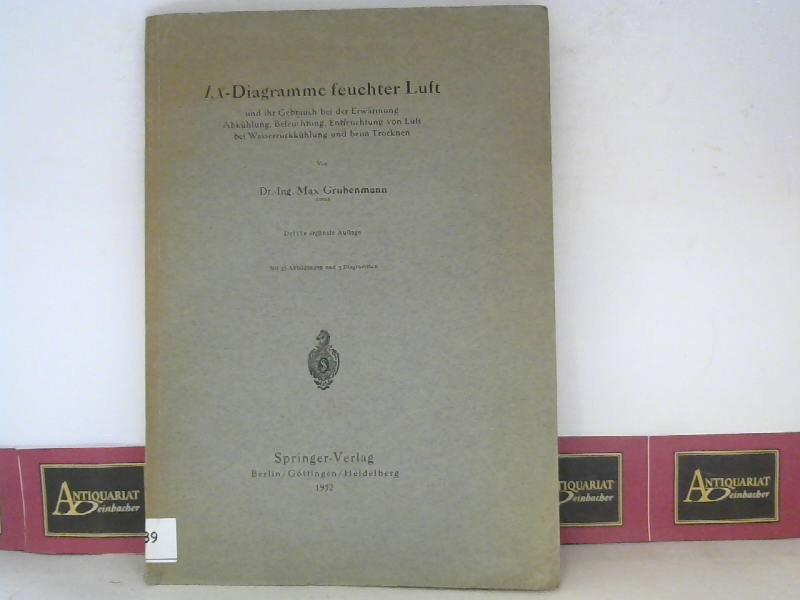I, x-Tafeln feuchter Luft und ihr Gebrauch bei der Erwärmung , Abkühlung , Befeuchtung , Entfeuchtung von Luft bei Wasserrückkühlung und beim Trocknen. 3. Aufl.