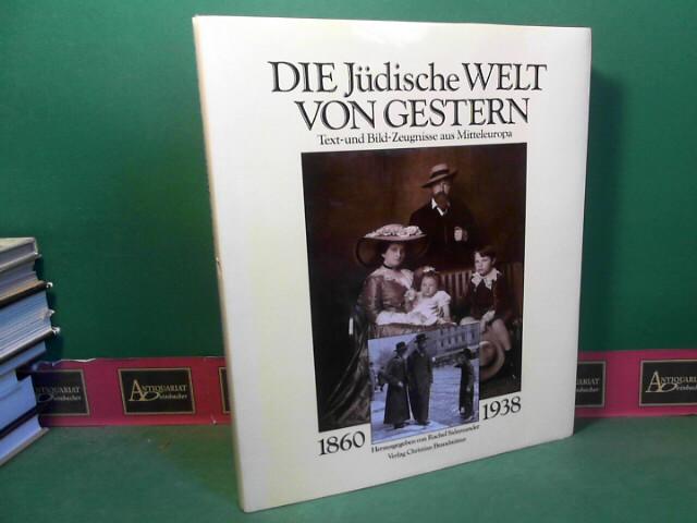 Die Jüdische Welt von gestern 1860-1938. Text- und Bild-Zeugnisse aus Mitteleuropa. 1.Auflage,