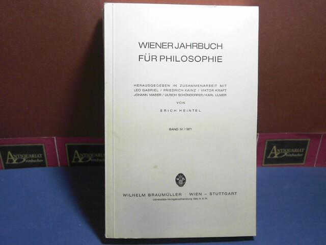 Wiener Jahrbuch für Philosophie. Band IV/1971 1.Auflage,