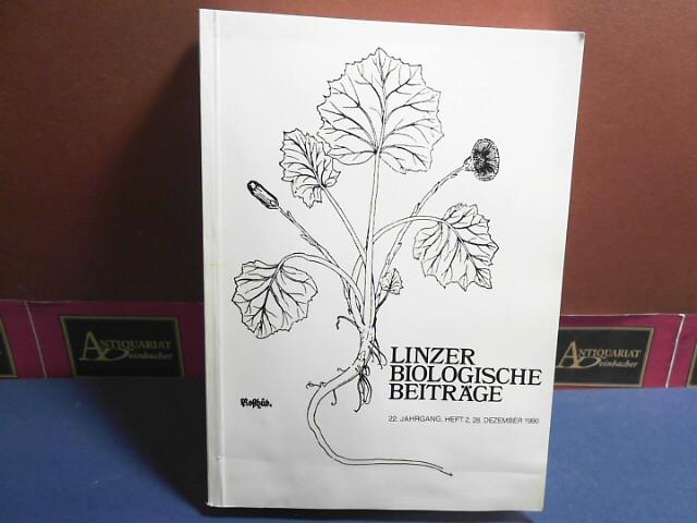 Linzer biologische Beiträge - 22.Jahrgang, Heft 2, 1990. 1. Aufl.