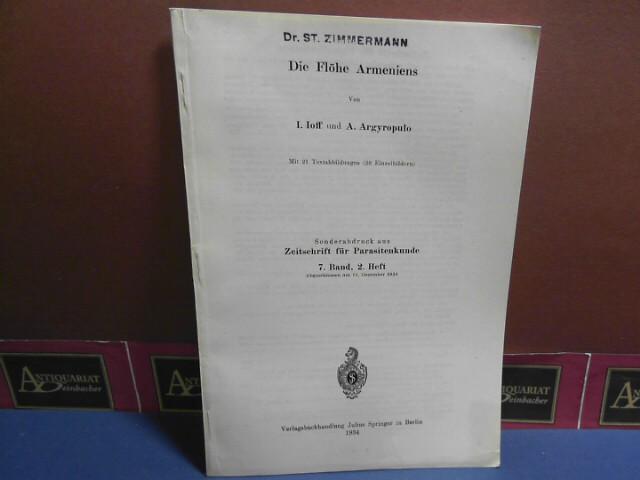 Ioff, I. und A. Argyropulo: Die Flöhe Armeniens. (= Sonderabdruck aus: Zeitschrift für Parasitenkunde, 7. Band, 2. Heft). 1.Auflage,