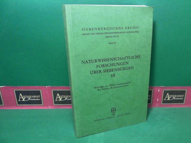 Heltmann, Heinz und Gustav Wendelberger: Naturwissenschaftliche Forschungen über Siebenbürgen. Band 3: Beiträge zur Pflanzengeographie des Südost-Karpartenraumes. (= Siebenbürgisches Archiv, Dritte Folge, Band 20). 1.Auflage,