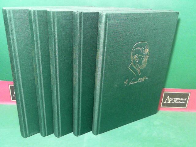 Leutelt, Gustav: Gesammelte Werke in 5 Bänden. (= Gablonzer Bücher, Band 45-49). 1.Auflage,