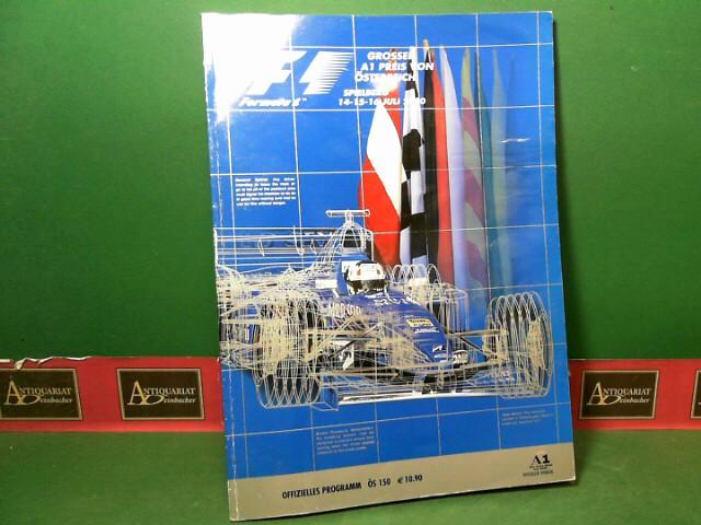 Formula 1 - Grosser Preis von Österreich, Spielberg 15-15-16 Juli 2000. - Official F1 Race Programm. - FIA Formula 1 World Championship. 1.Auflage,