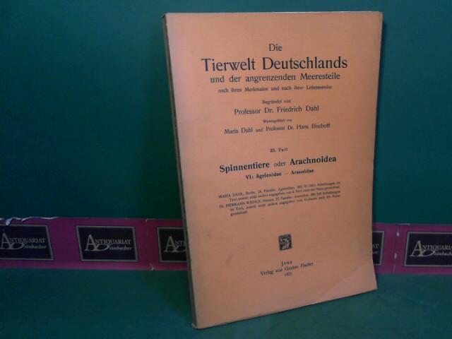 Dahl, Maria und Hermann Wiehle: Spinnentiere oder Arachnoidea. VI: Agelenidae, Araneidae. (= Die Tierwelt Deutschlands,... 23.Teil). 1.Auflage,