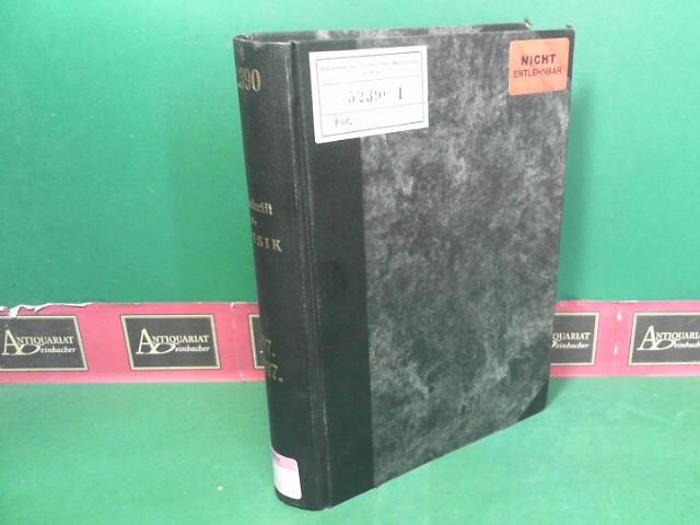 Zeitschrift für Physik - 107.Band, 1937. 1.Auflage,