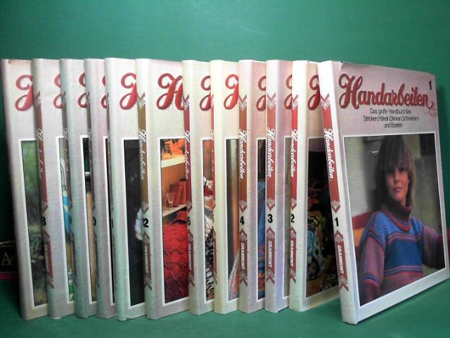 Handarbeiten - Das große Handbuch fürs Stricken, Häkeln, Sticken, Schneidern und Basteln - Band 1-12 und Abplättmuster und Schnittbogen-Mappen 1-12. 1.Auflage,