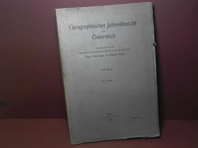 Geographischer Jahresbericht aus Österreich - 23.Band, 1949. 1.Auflage,
