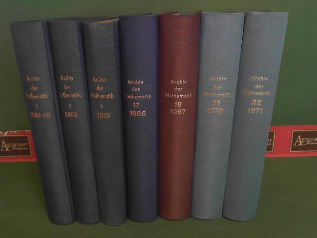 Archiv der Mathematik - Archives of Mathematics - Archives Mathematiques. Vol.2-7, 9-19, 21-26, 28 (24 Bände). 1.Auflage,