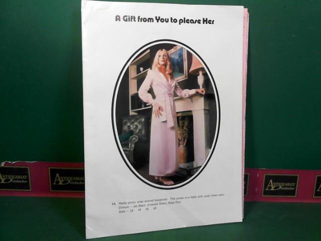 A Gift from You to please Her. (= Verkaufskatalog für Gummiwäsche, erotischen Dessous und Mieder).