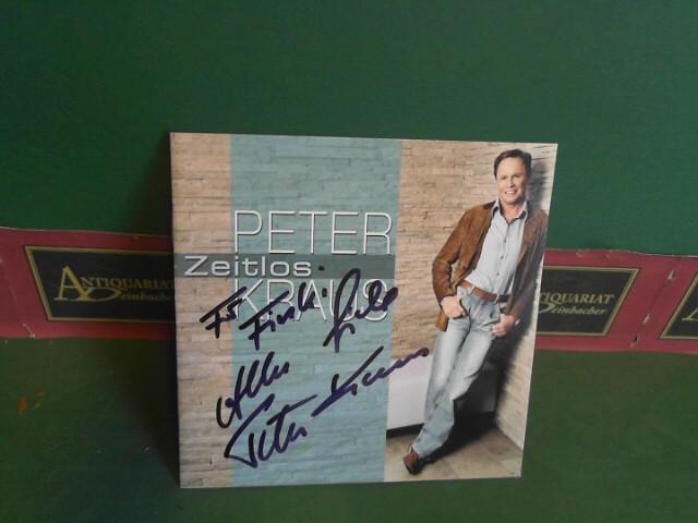 CD-Textheft mit persönlicher Widmung von Peter Kraus - eigenh.signiert.
