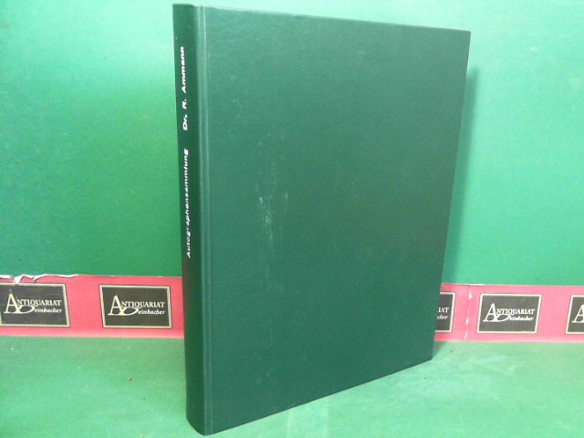 Autographensammlung Dr. Robert Ammann (Beschreibendes Verzeichnis). (= Auktionskatalog der Autographenhandlunng J.A.Stargardt). 1.Auflage,