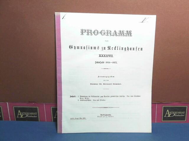 Anwendung der Collinearität zum Beweisen geometrischer Lehrsätze. (= Beilage zum Programm des Gymnasium zu Recklinghausen). 1. Aufl.