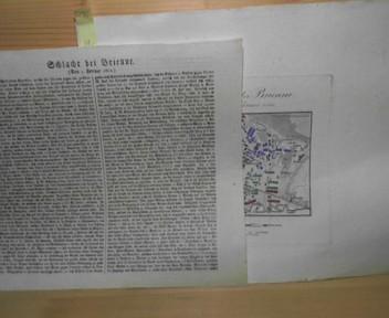 Schlacht bei Brienne (la Rothiere), den 1.Februar 1814 (wichtige Schlacht des Napoleon Feldzuges. Blücher drängt Napoleon über die Aube, rückt mit seiner schles.Armee längs der Marne auf Paris). 1. Aufl.