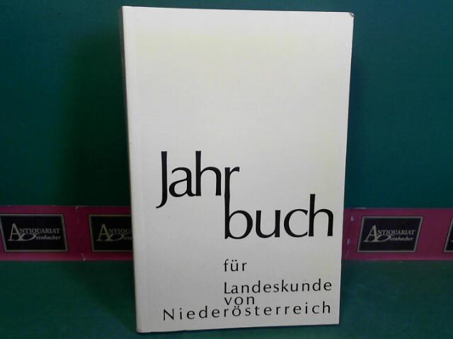 Verein für Landeskunde von NÖ und Wien (Hrsg.): Jahrbuch für Landeskunde von Niederösterreich, Neue Folge 57/58, 1991-1992. 1. Aufl.