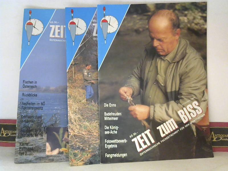 Pfeffer, Manfred (Hrsg.): Zeit zum Biss - Österreichsiche Fachzeitschrift für den Sportfischer - Jahrgang 1988 Heft 10-12; Jahrgang 1989 Heft 1-6. 1. Aufl.