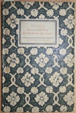Hymnen an die Nacht Die Christenheit oder Europa, Reihe:Insel-Bücherei Nr.21,