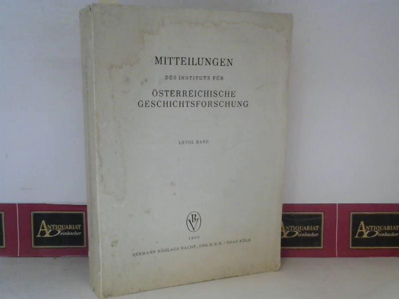Mitteilungen des Institus für Österreichische Geschichtsforschung - LXVIII. Band. 1. Aufl.