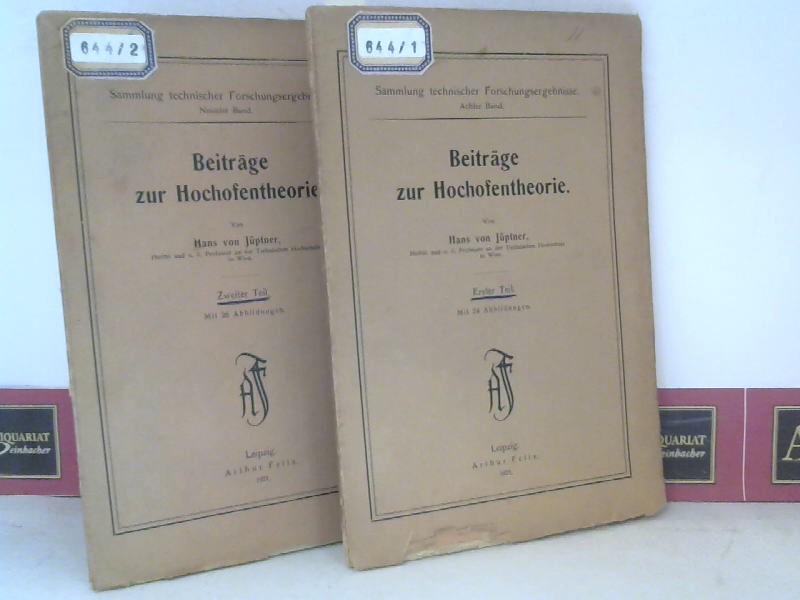 Beiträge zur Hochofentheorie - in zwei Bänden. (= Sammlung technischer Forschungsergebnisse, Band 8/9). 1. Aufl.