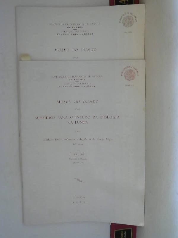 Balogh J.: Subsidios para o estudo da biologia na lunda - Descriptions complementaires d'Oribates (Acari) d'Angola et du Congo Belge 1. Aufl.