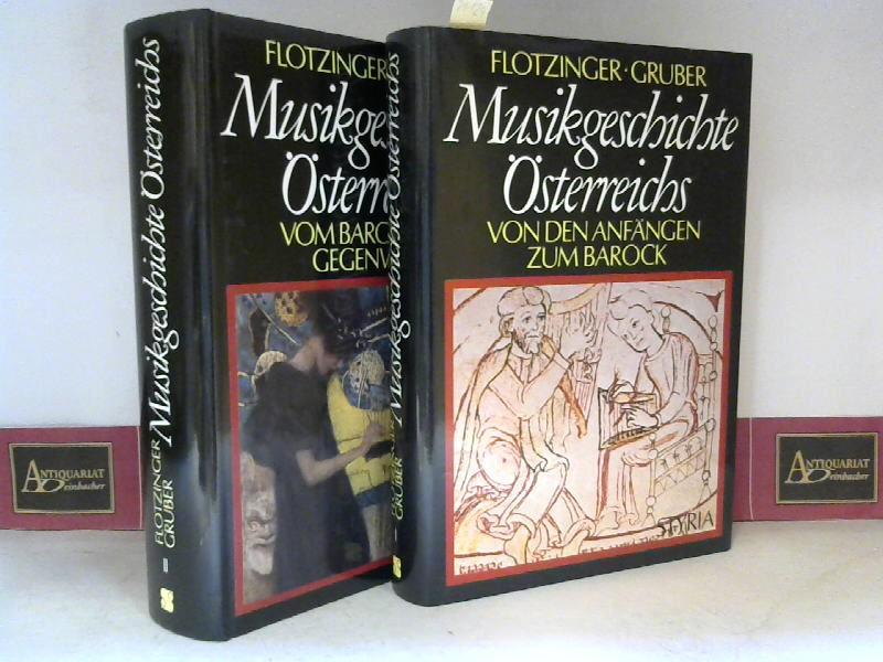 Musikgeschichte Österreichs in zwei Bänden - Band 1: Von den Anfängen zum Barock - Band 2: Vom Barock zur Gegenwart. 1.Auflage