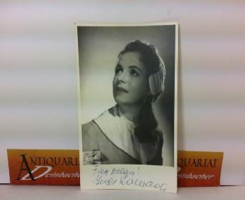 Photo Bild-Autogrammkarte von Inge Konradi - eigenh.signiert