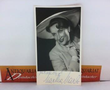 Photo Bild-Autogrammkarte von Martha Marbo - eigenh.signiert