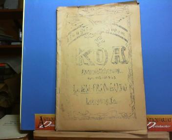 Hoogboom - KOA-Auswahllehrgang vom 11.3.-10.5.1943 - La.Feld.FAJ.(West) 30 - Lehrgang Ia. Humoristische Schrift des Lehrganges. 1.Auflage,