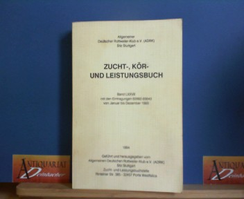 Zucht-, Kör- und Leistungsbuch - Band LXXVII mit den Eintragungen 82992-85643 von Januar bis Dezember 1993. 1.Auflage,