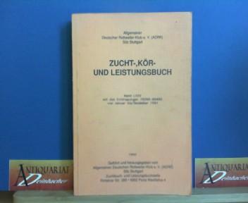 Zucht-, Kör- und Leistungsbuch - Band LXXV mit den Eintragungen 78266-80460 von Januar bis Dezember 1991. 1.Auflage,
