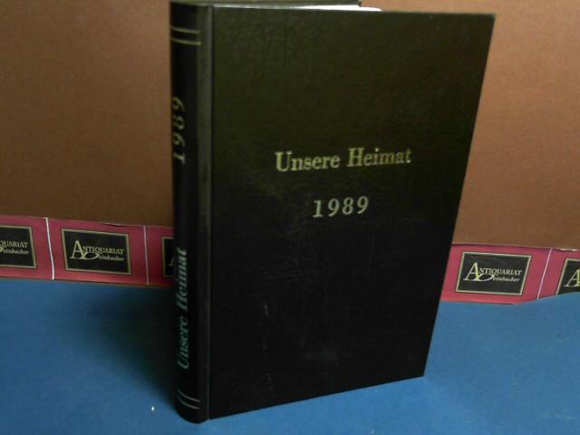 Unsere Heimat - 60.Jahrgang 1989, Heft 1-12 in einem Band gebunden - Monatsblatt des Vereins für Landeskunde von Niederösterreich und Wien. 1. Aufl.
