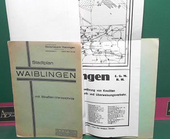 Stadtplan Waiblingen mit Straßen-Verzeichnis. 1.Auflage,