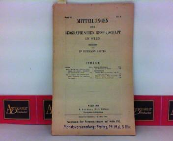 Leitner, Hermann: Mitteilungen der geographischen Gesellschaft in Wien - Band 62, Heft 4. 1. Aufl.