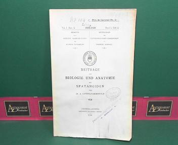 Gandolfi-Hornyold, A.: Beiträge zur Biologie und Anatomie der Spatangiden. (= Mitteilungen der naturforschenden Gesellschaft Freiburg Zoologie, Band I, Heft 2). 1. Aufl.