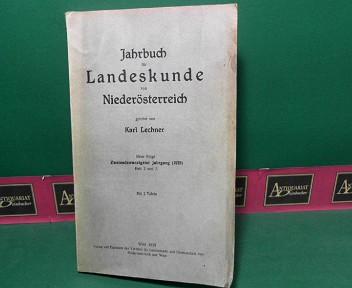 Jahrbuch für Landeskunde von Niederösterreich, Neue Folge, Band 22, Heft 2/3). 1. Aufl.