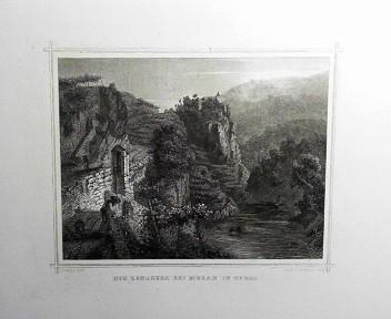 Die Zenoburg bei Meran in Tyrol. (= aus: Das Kaiserthum Oesterreich - Ungarn nebst Siebenbürgen, Tyrol, Triest sowie  II.Abtheilung).
