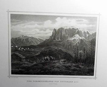 Der Dolomitschlern vom Unterinn aus.. (Süd-Tyrol). (= aus: Das Kaiserthum Oesterreich - Ungarn nebst Siebenbürgen, Tyrol, Triest sowie  II.Abtheilung).