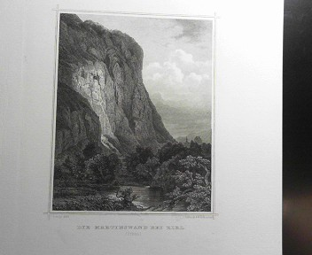 Die Martinswand bei Zirl. (Tyrol).  (= aus: Das Kaiserthum Oesterreich - Ungarn nebst Siebenbürgen, Tyrol, Triest sowie  II.Abtheilung).