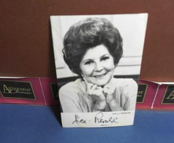 Photo Bild-Autogrammkarte von Hilli Reschl - eigenh.signiert.