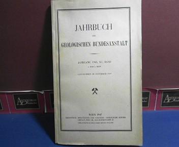 Jahrbuch der Geologischen Bundesanstalt, Jahrgang 1945, XC. Band, 3. und 4. Heft. 1.Auflage,