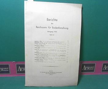 Berichte des Reichsamts für Bodenforschung, Jahrgang 1944, Heft 5/8. 1.Auflage,