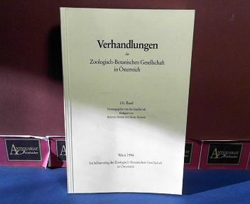131. Band der Verhandlungen der Zoologisch-Botanischen Gesellschaft in Österreich 1.Auflage,