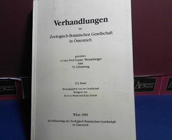 123. Band der Verhandlungen der Zoologisch-Botanischen Gesellschaft in Österreich (gewidmet o. Univ.-Prof. Gustav Wendelberger zum 70. Geburtstag. 1.Auflage,