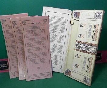 Rondo Familien-Spiele IV.Serie - Steckbrief, Gerichtssaal, Literatur IV. 1.Auflage,