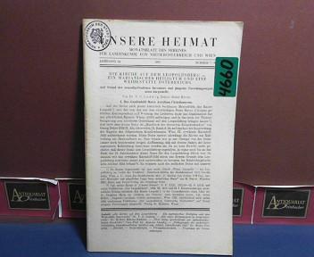 Unsere Heimat. -  Jahrgang 24, 1953, Nr. 7/9 - Monatsblatt des Vereines für Landeskunde von Niederösterreich und Wien. 1.Auflage,
