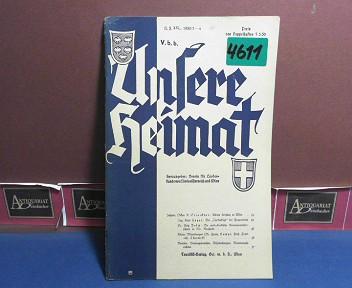 Unsere Heimat. -  Neue Folge XXI, 1950, Nr. 3/4 - Monatsblatt des Vereines für Landeskunde von Niederösterreich und Wien. 1.Auflage,