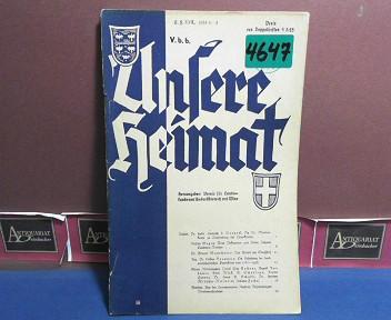 Unsere Heimat. -  Neue Folge XXII, 1951, Nr. 1/2 - Monatsblatt des Vereines für Landeskunde von Niederösterreich und Wien. 1.Auflage,