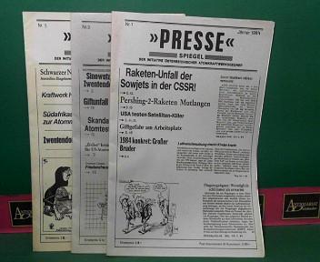 Pressespiegel der Initiative österreichischer Atokraftwerksgegner - 1982 Nr.2,5,8-10; - 1983 Nr.1-6,9; - 1984 Nr.1,3,5,7; - 1987 Nr.1. 1.Auflage,